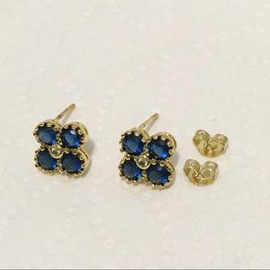 New 18KGP gold flower studs earrings